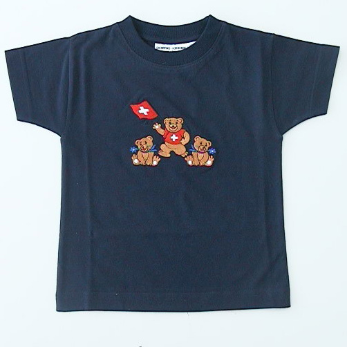 Shirt Bären gestickt, AUSVERKAUF