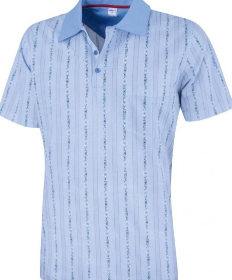 Edelweiss Polo Shirt hellblau, Damen, Kurzarm