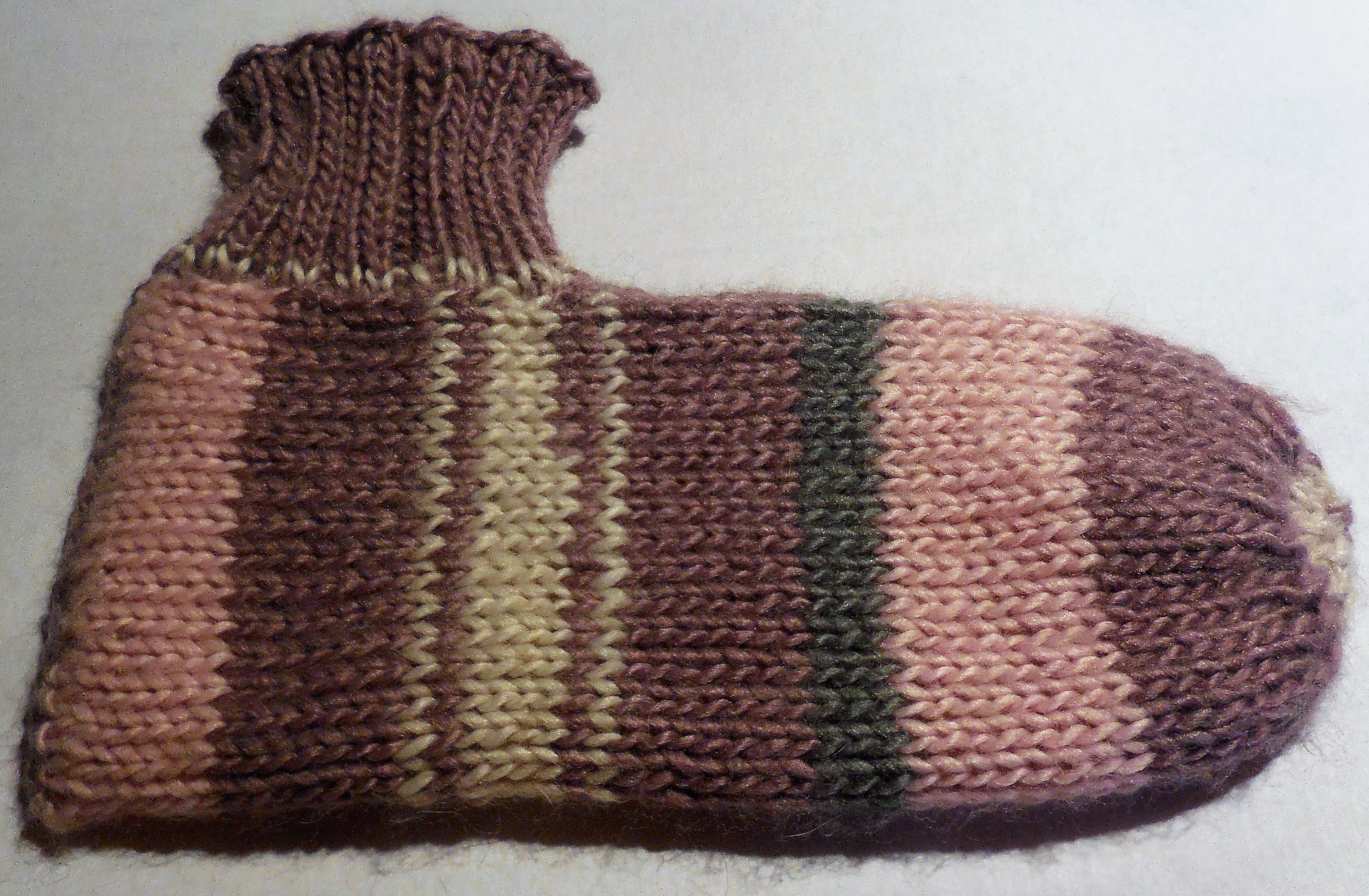 Kuschel / Bett Socke, handgestrickt
