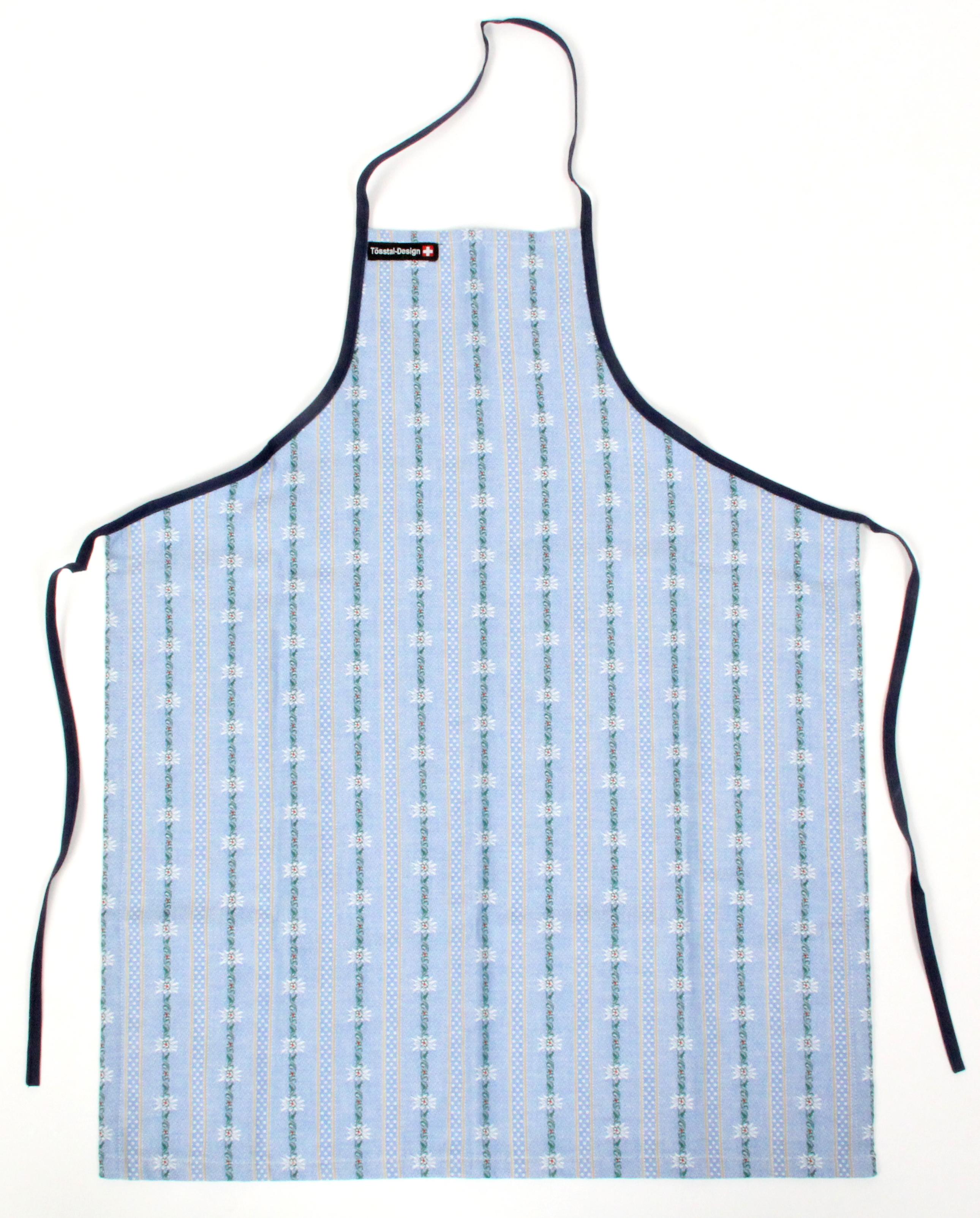 Küchenschürze Edelweiss hellblau, ohne Tasche