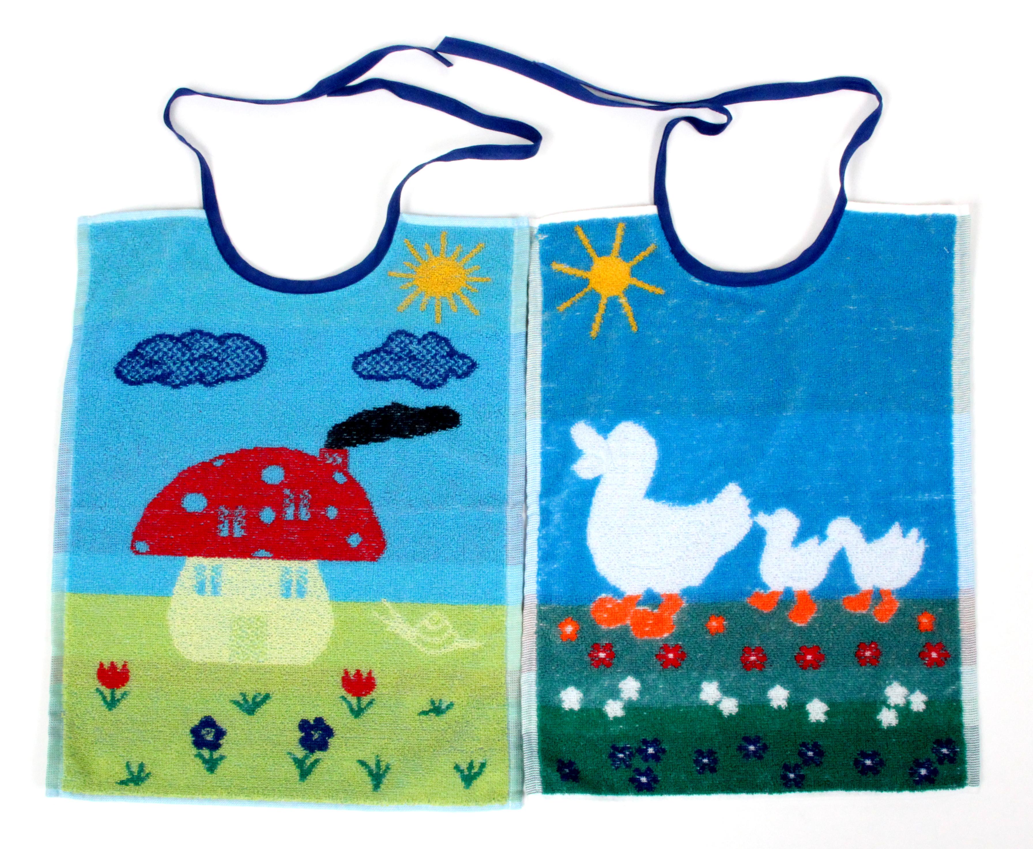 Kinder Esslatz gross , Doppelpack Ente  & Pilz