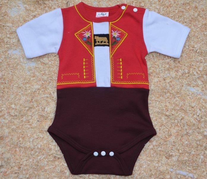 Baby Body Appenzeller Tracht, Kurzarm