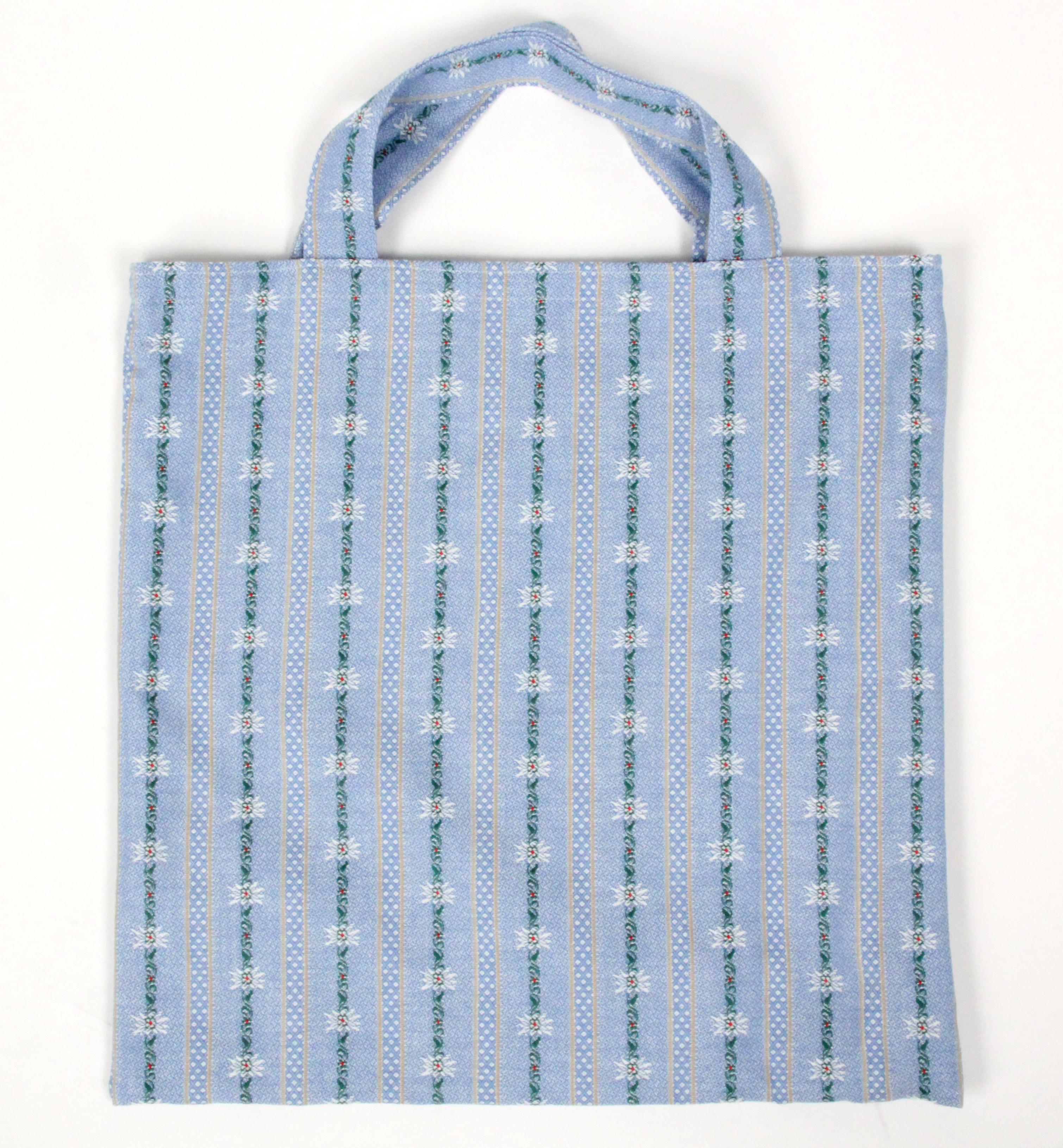 Oeko Einkaufstasche Edelweiss Stoff,  hellblau