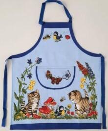 Kinder Küchenschürze bedruckt, Katzen