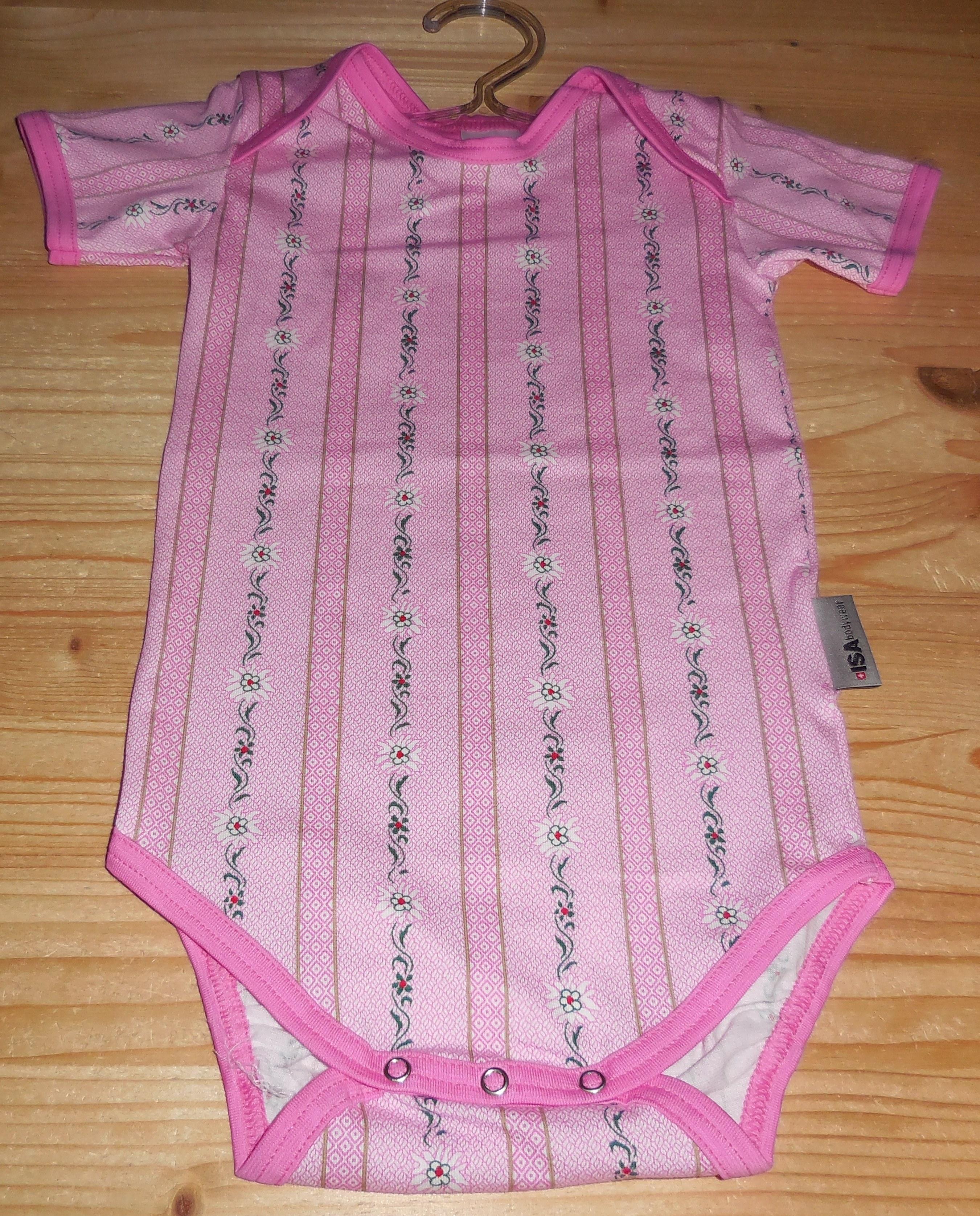 Baby Body Edelweiss pink, Kurzarm