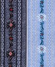 Hosenträger hellblau und anthrazit mit Edelweiss