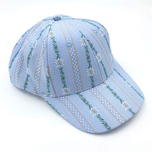 Cap Edelweiss coolmax hellblau