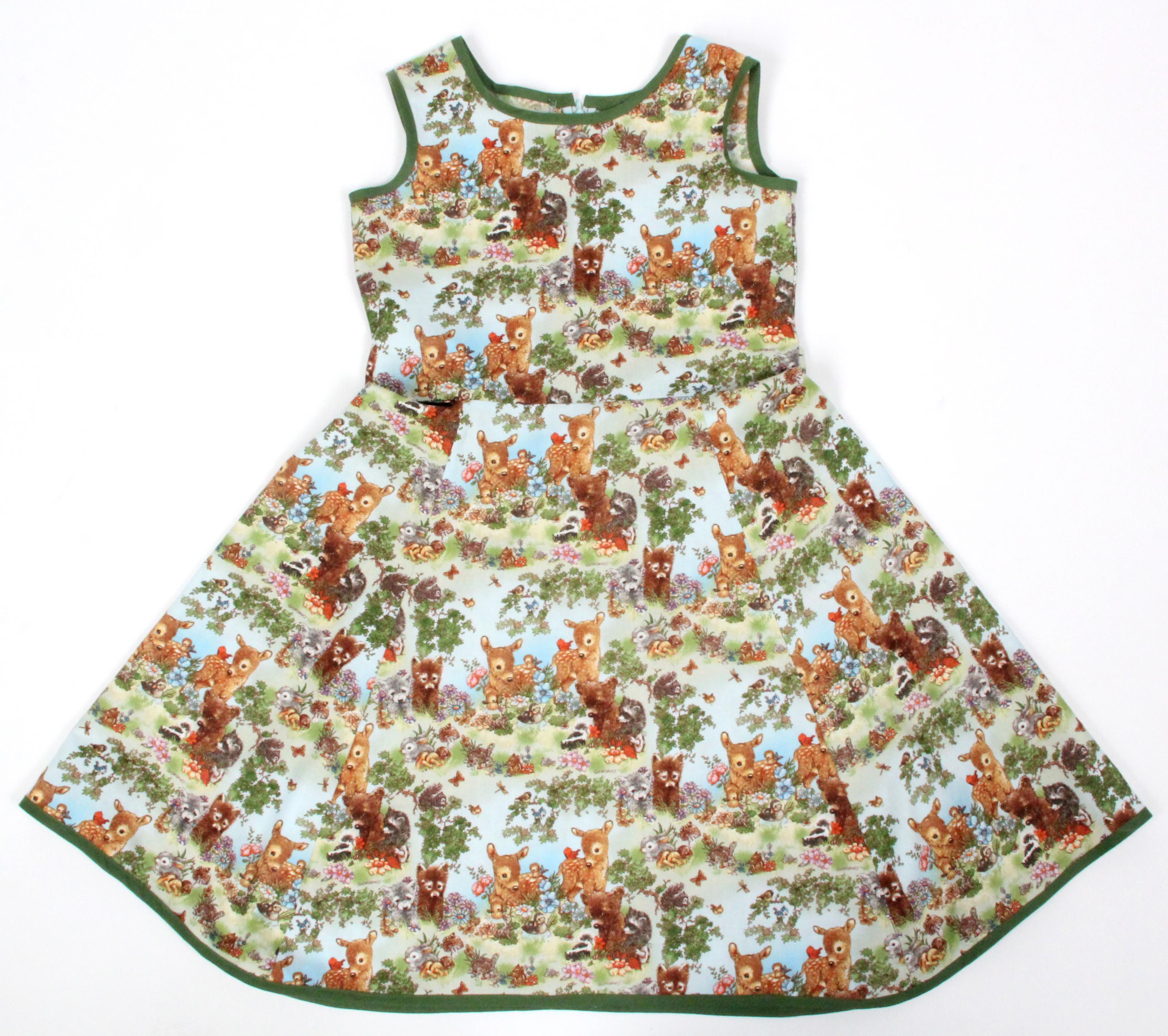 Kinder Kleid Waldtiere