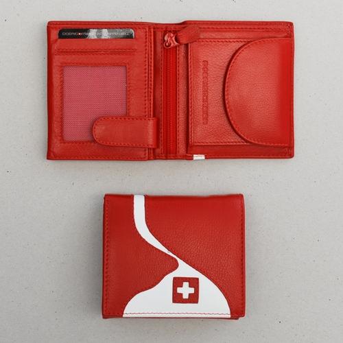 Portemonnaie rot/weiss Matterhorn, 12x9cm
