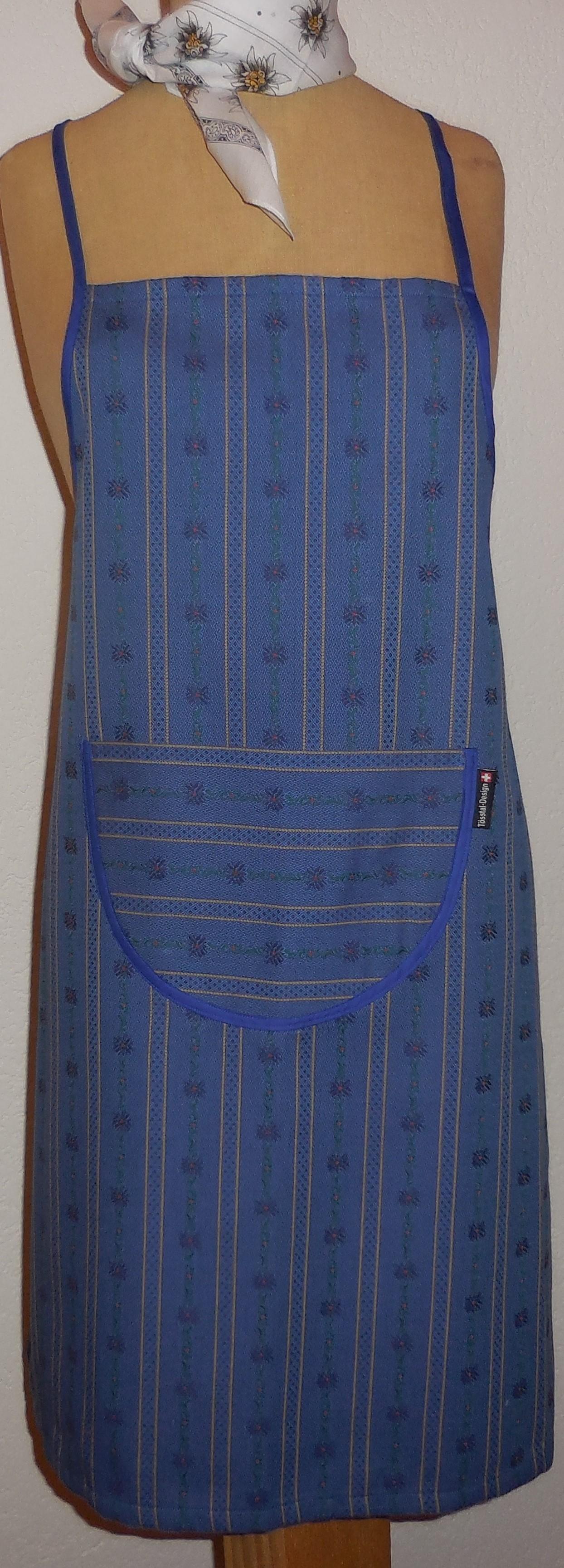 Küchenschürze original Edelweiss , dunkelblau