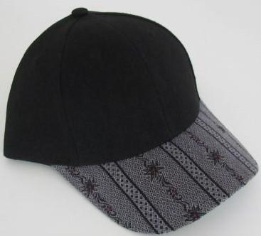 Cap schwarz / Edelweiss anthrazit