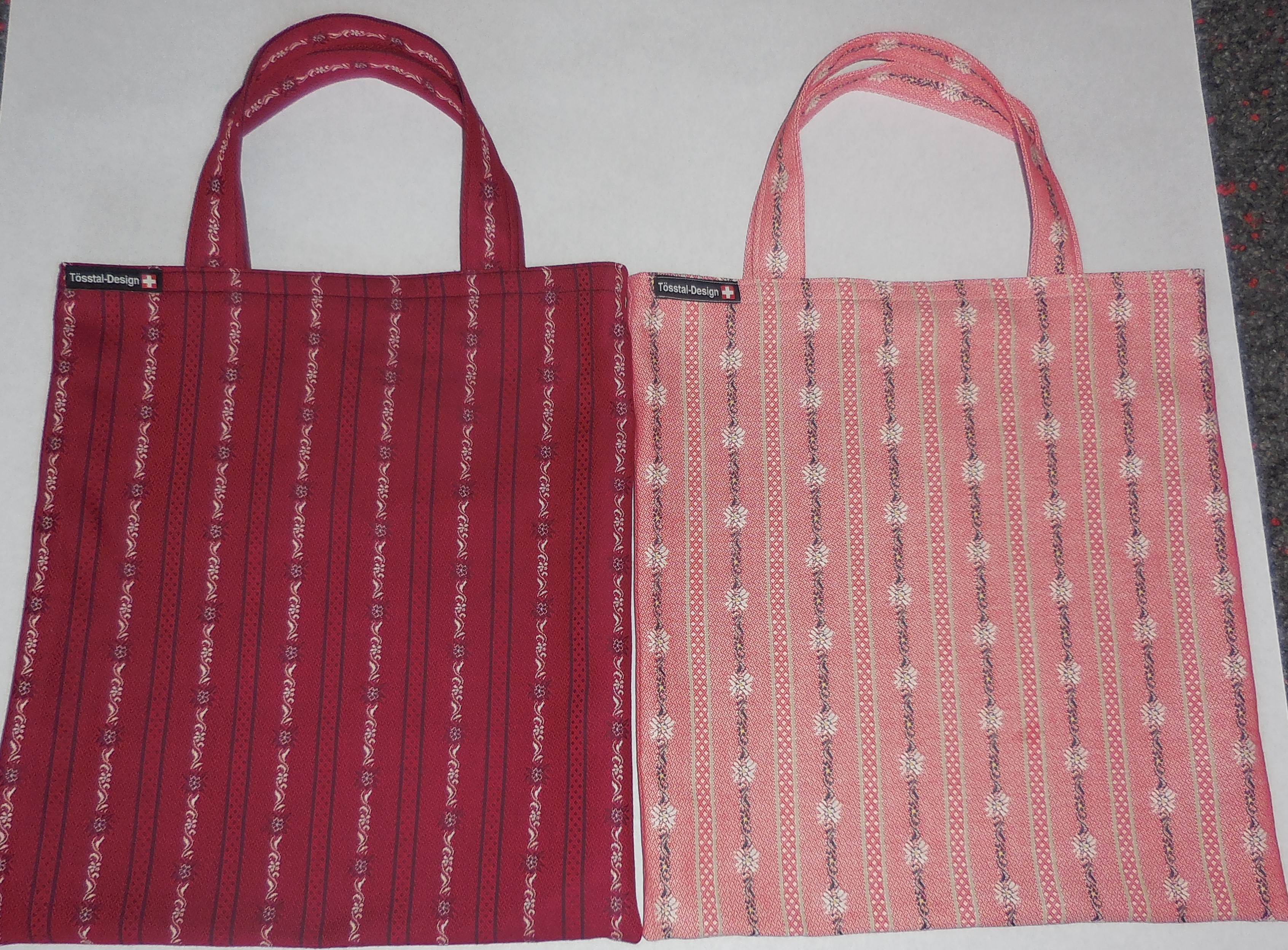 Einkaufstasche Edelweiss Stoff.  Orig. Tösstal-Design