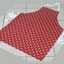Küchenschürze rot,  Glarner Tropfen Muster