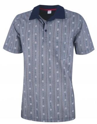 Polo Shirt  Edelweiss dunkelblau