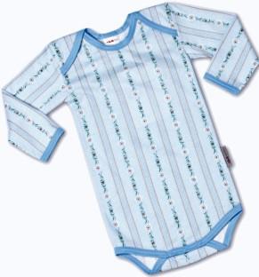 Baby Body Edelweiss hellblau, Langarm
