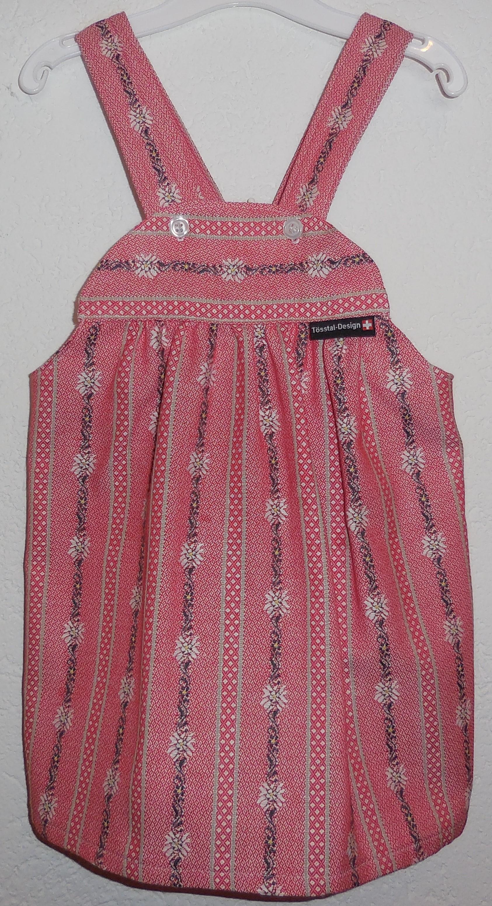 Trägerrock Edelweiss hellrot & dunkelrot, Tösstal-Design