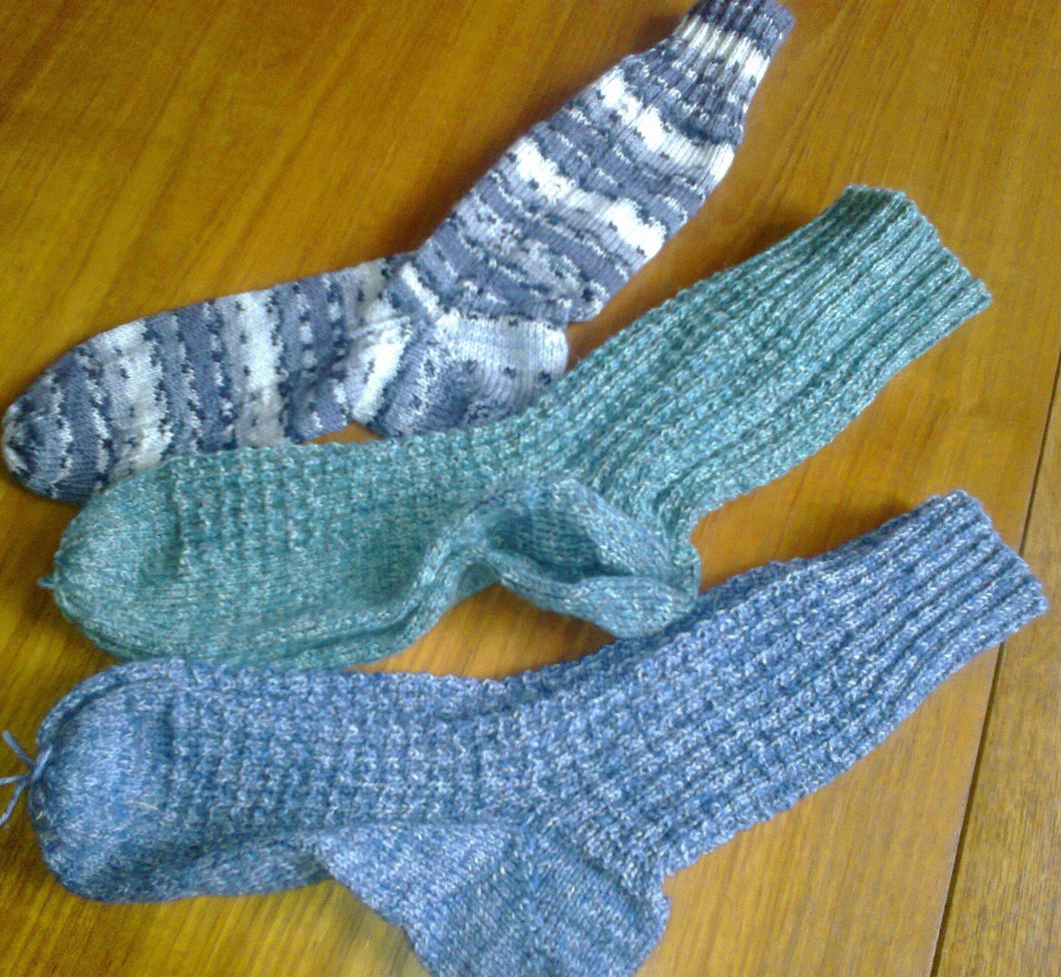 Socken handgestrickt, div. Farben