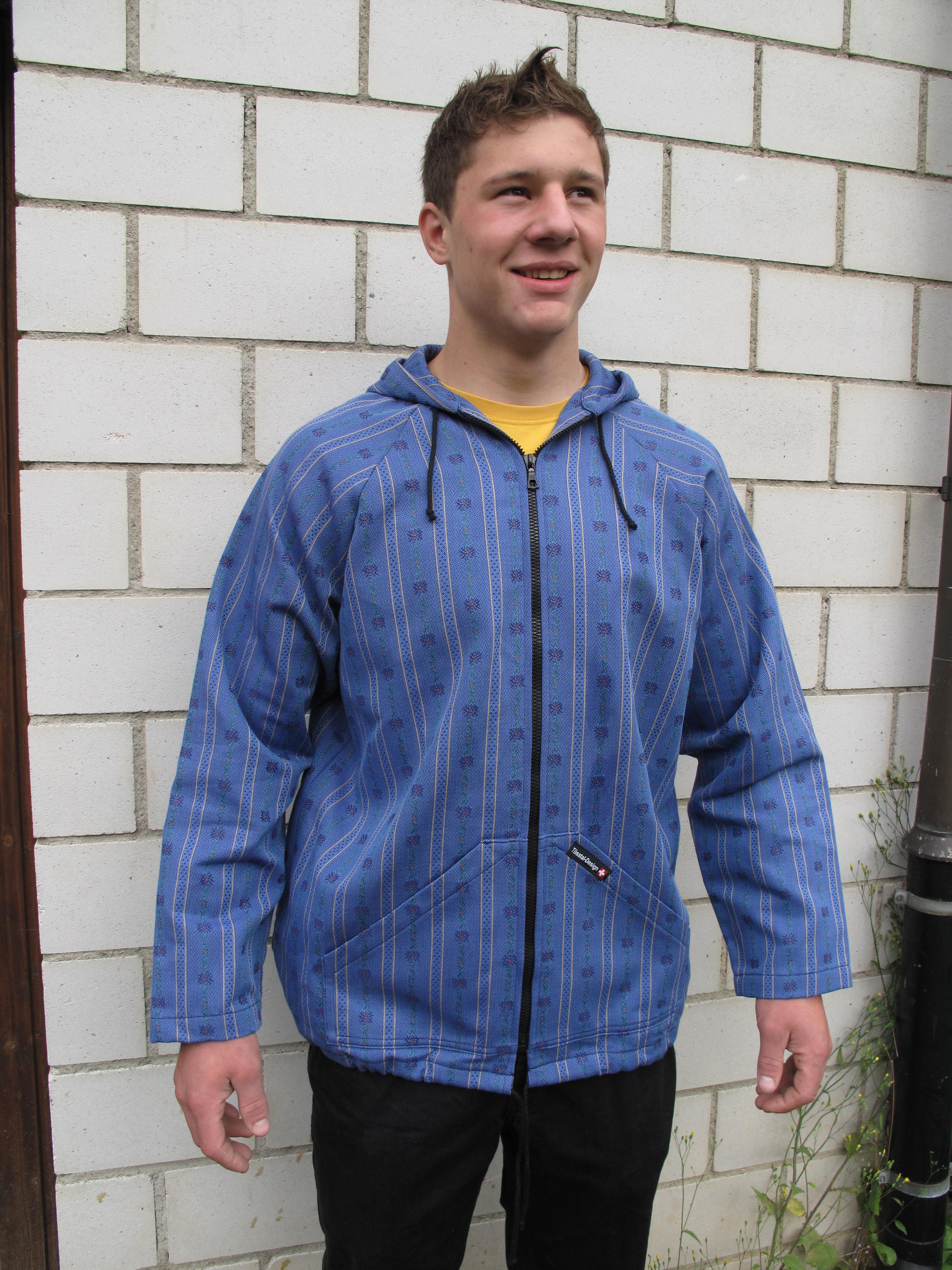 Edelweiss Kapuzenjacke Tösstal Design, dunkelblau