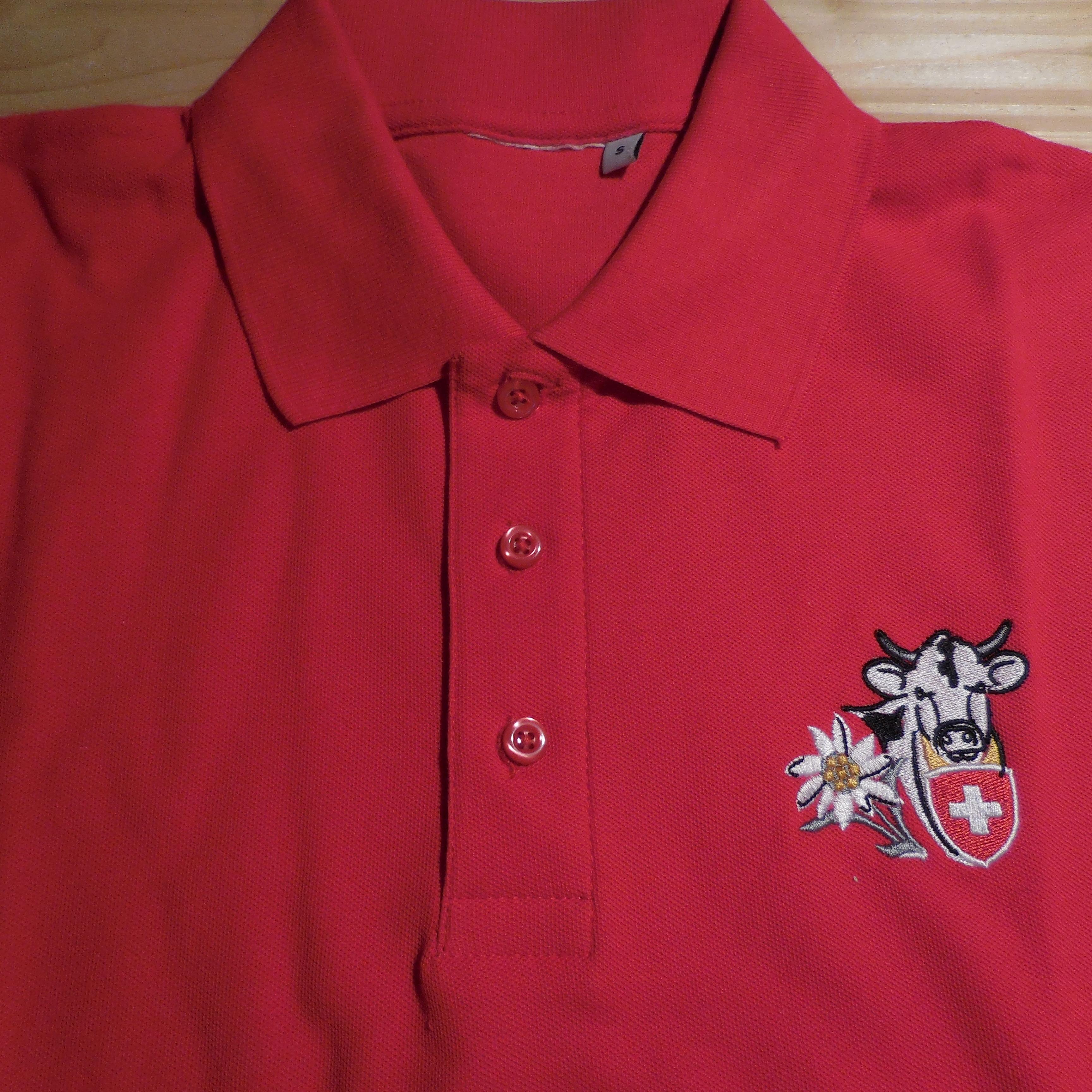Polo Shirt rot mit Stickerei