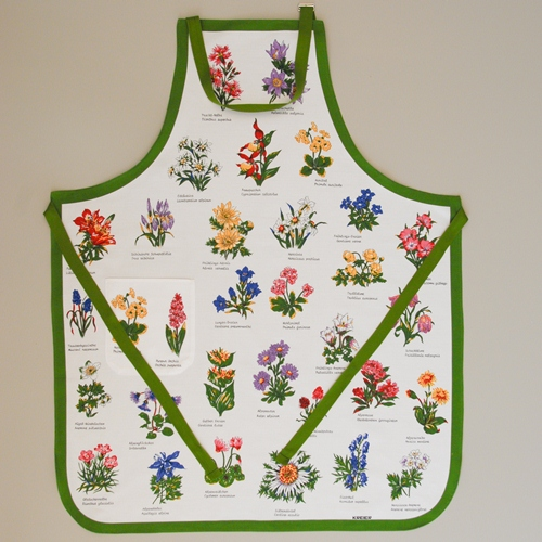 Küchenschürze  mit Alpenblumen
