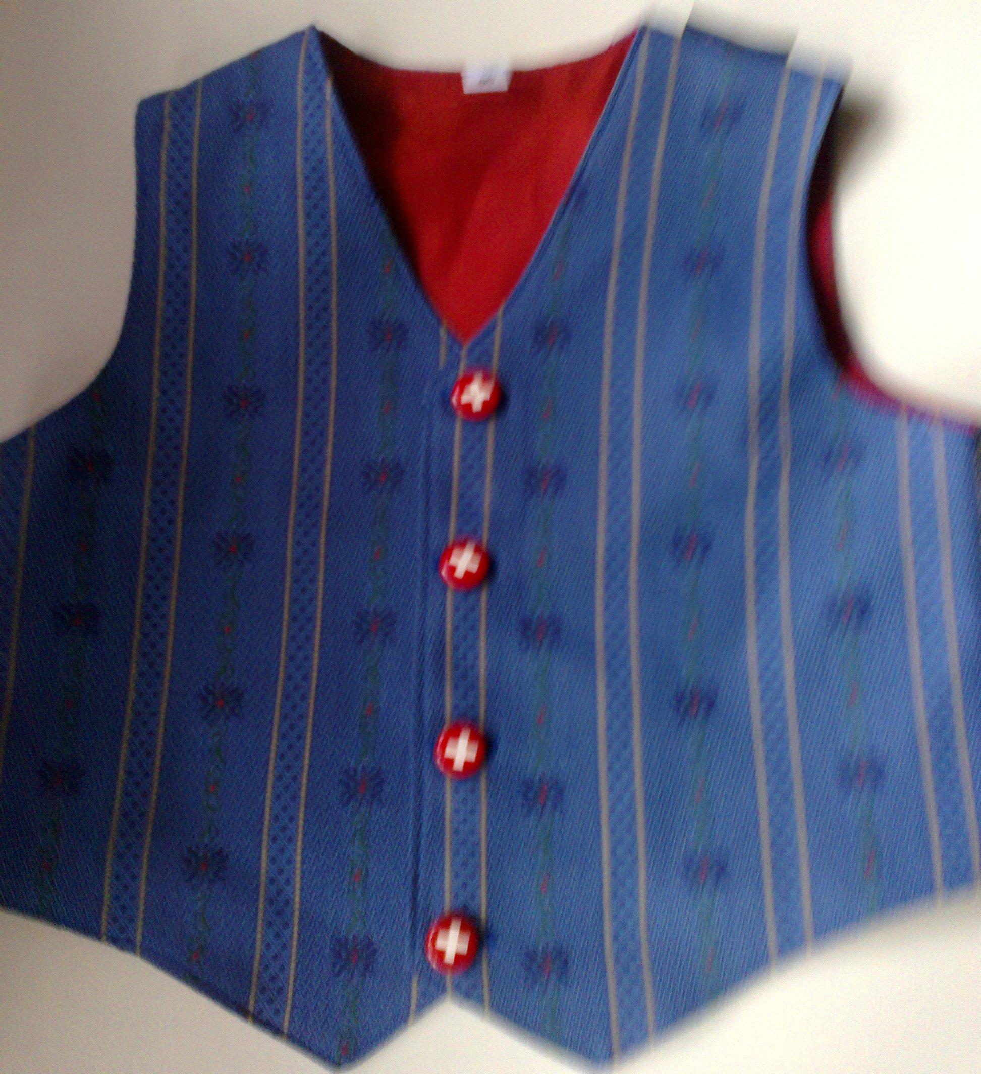 Edelweiss Gilet dunkelblau, Kind, Tösstal-Design
