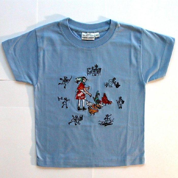 Shirt Flurina, gestickt, Kurzarm, Sommer AKTION