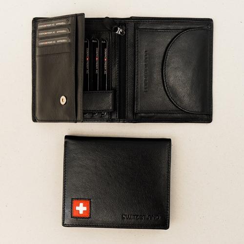 Portemonnaie schwarz mit CH Kreuz