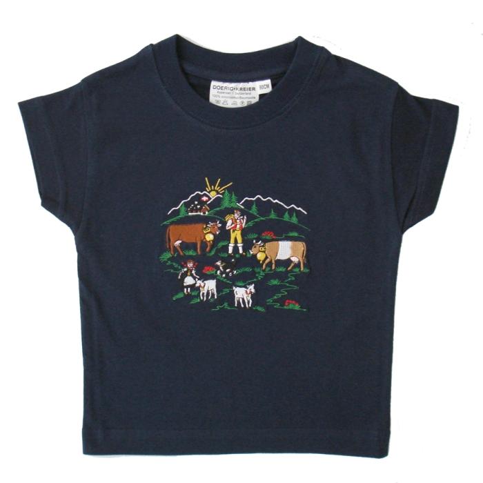 Polo Shirt Appenzeller Alpaufzug, gestickt. AUSVERKAUF