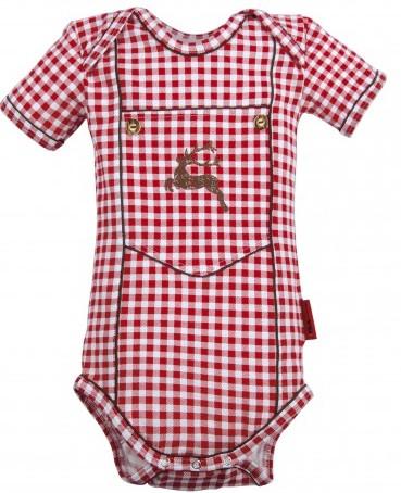 Baby Body Alpenschick kariert, Kurzarm