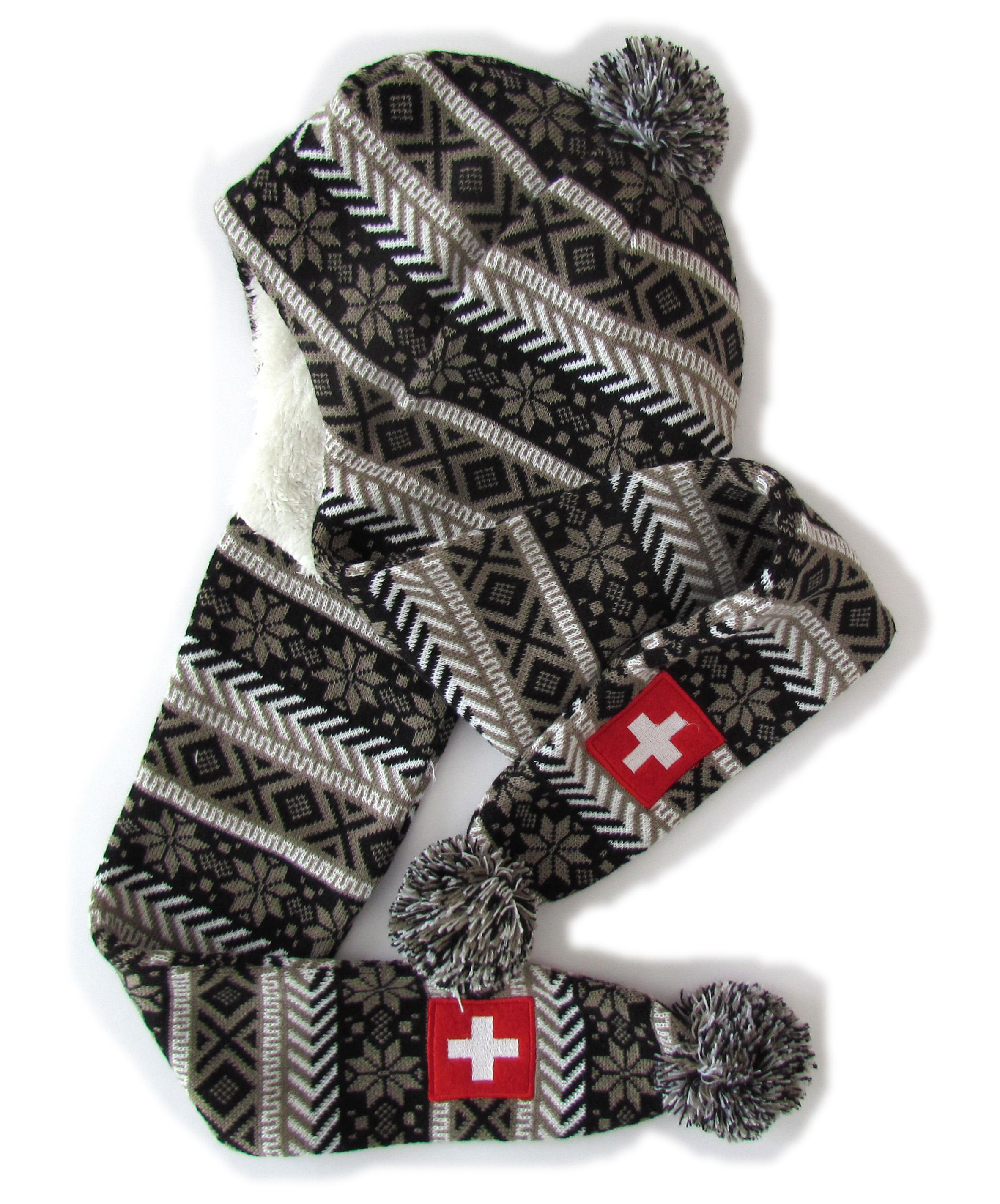 Mütze mit Schal & CH Kreuz