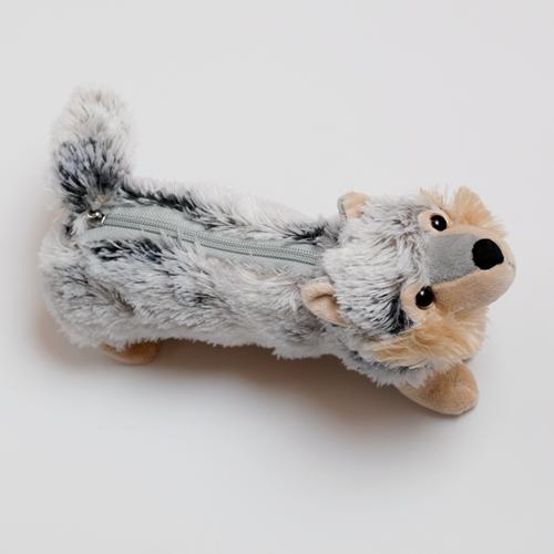 Schüler Etui  / Beutel, Wolf