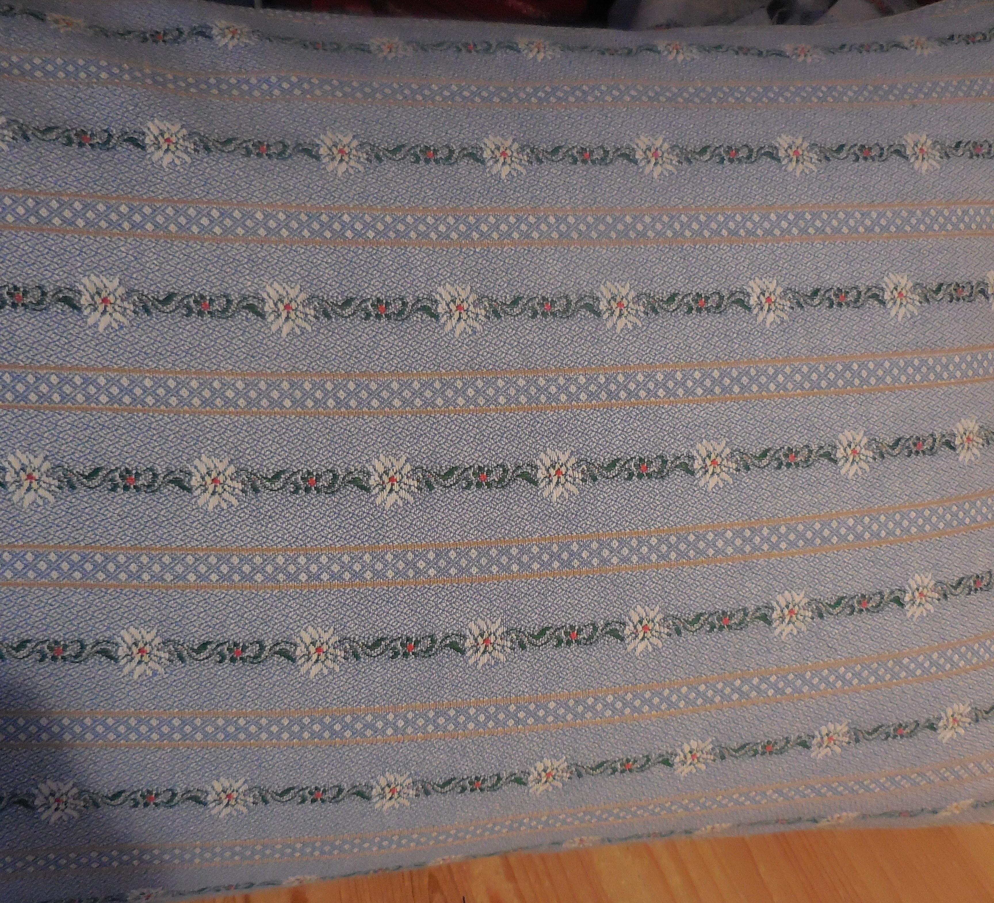 Kissen Edelweiss hellblau, 40x60cm