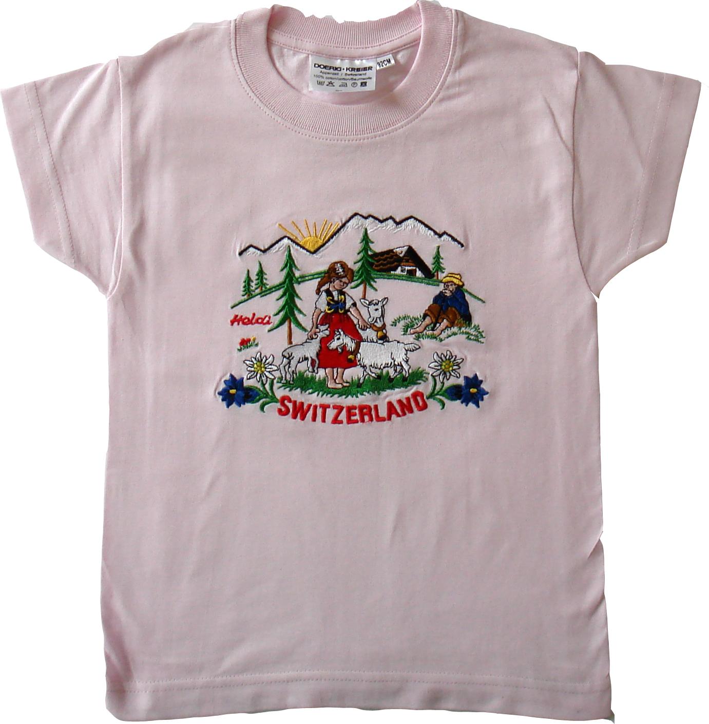 Heidi Shirt mit Stickerei, Kurzarm, diverse Farben