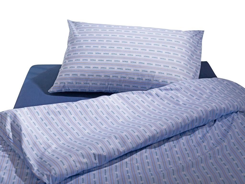 Bettwäsche Garnitur Edelweiss hellblau