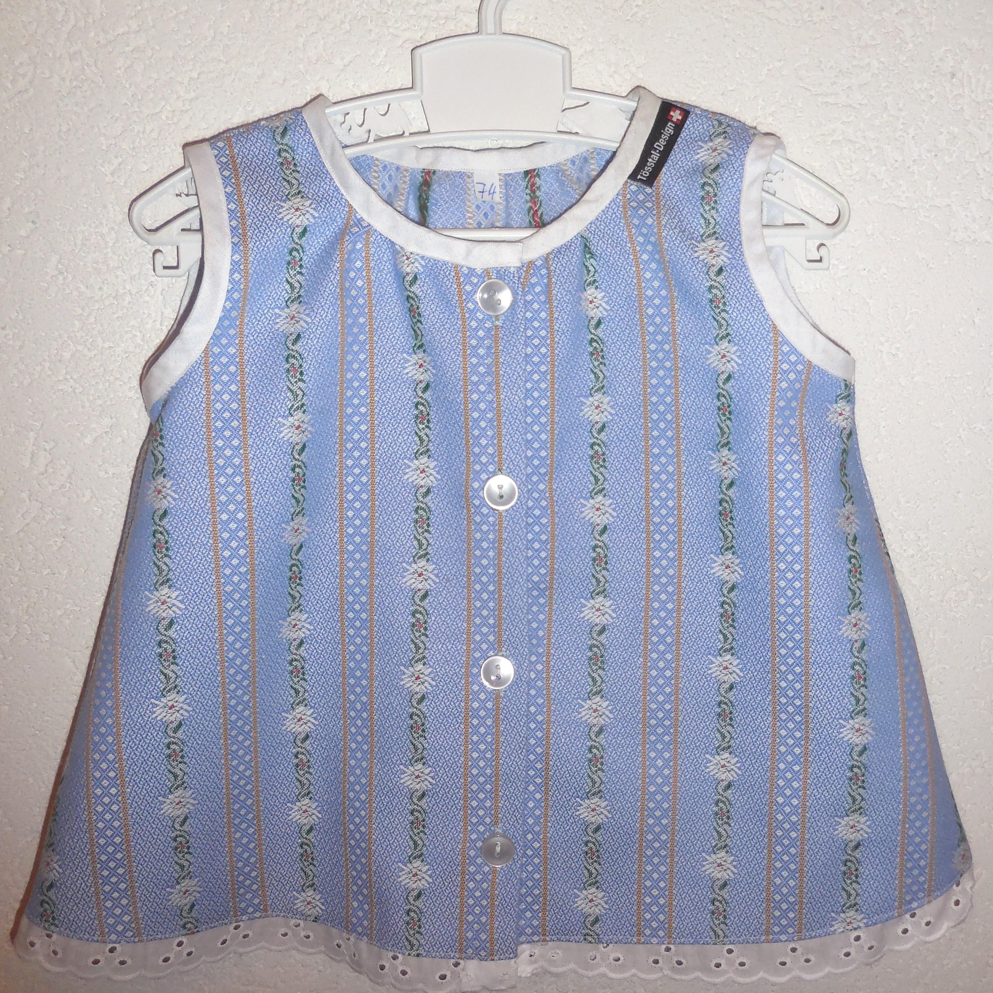 Edelweiss Tunika / Kleid hellblau für Kleinkind