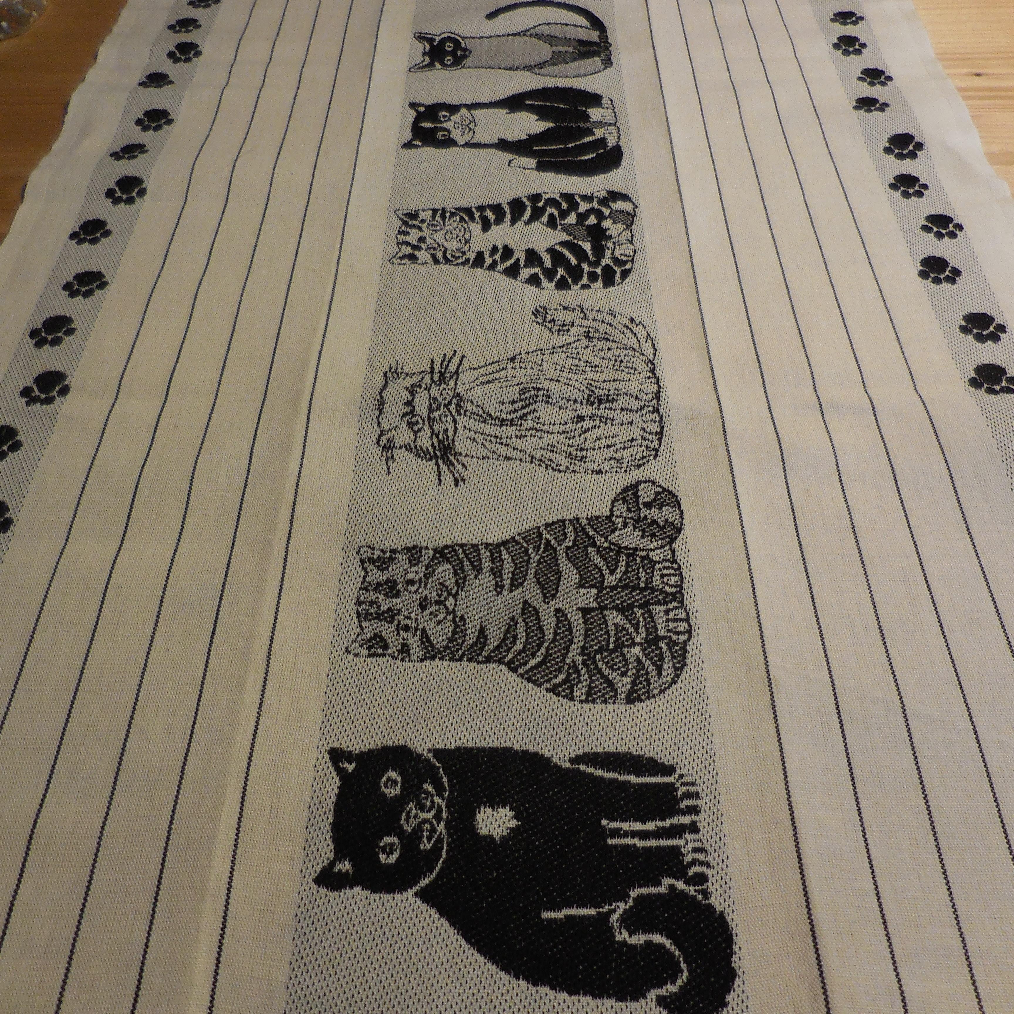 Küchentuch Katzen beige/schwarz