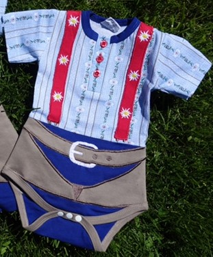 Baby Body Schwinger Outfit, Kurzarm