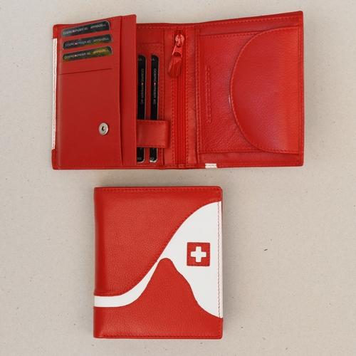 Portemonnaie rot/weiss Matterhorn, 10x11,5cm