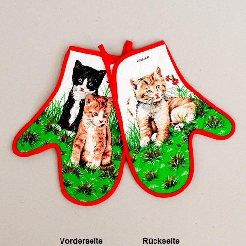 Topfhandschuhe Katzen, Paar