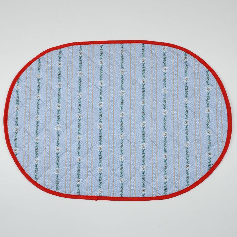 Tischset Edelweiss hellblau & anthrazit