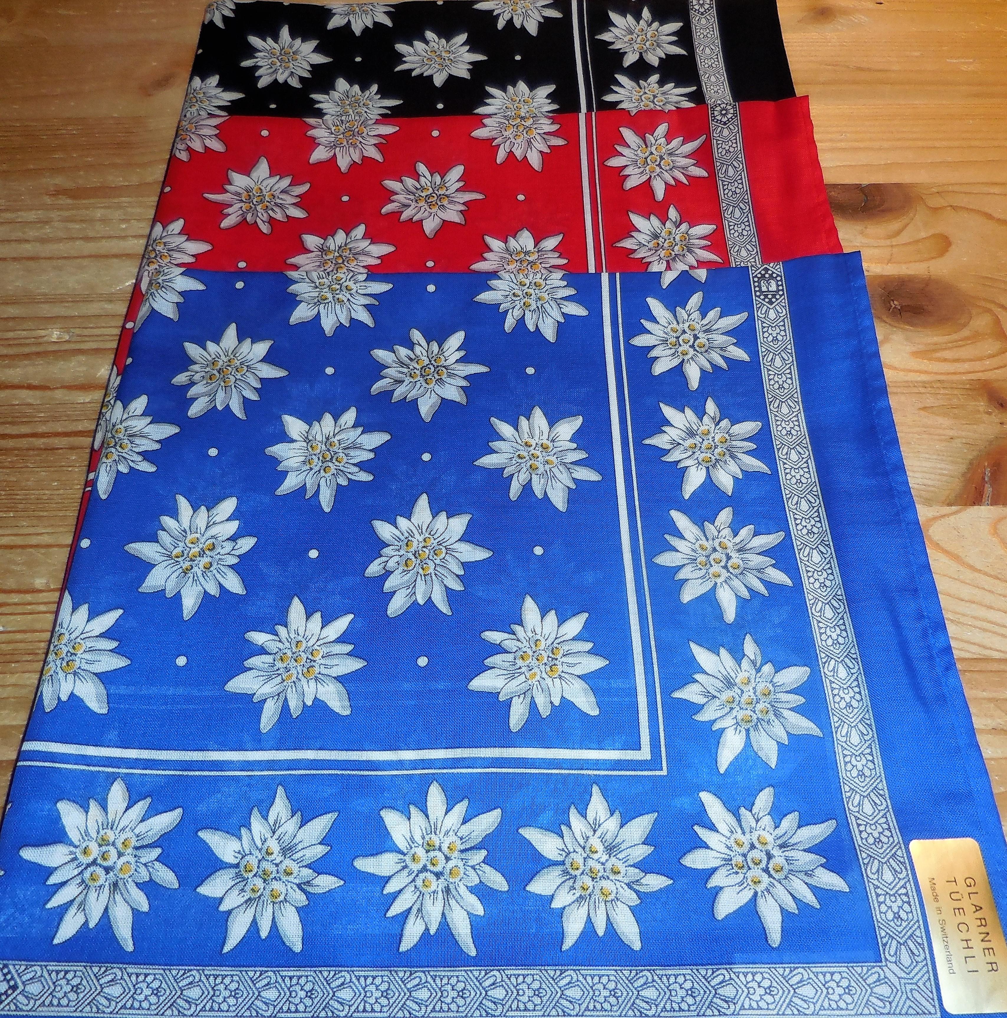 Glarner Tuch Edelweiss,  50x50cm